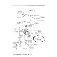 1st Gen turbocharger coolant hose lower Mazda F220-13-546A