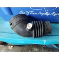 Air filter intake tubing boot